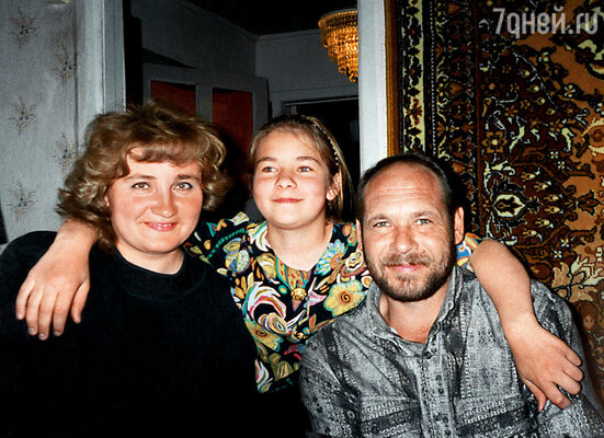 Моя мама, папа и младшая сестра