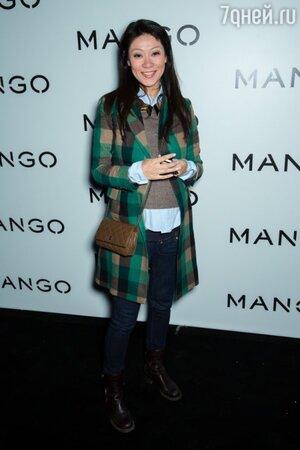 Марина Ким на показе новой коллекции Mango
