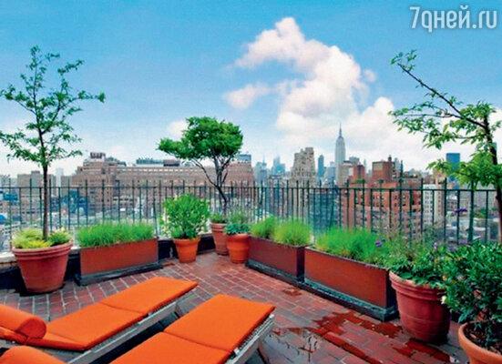 С террасы открывается потрясающий вид на Нью-Йорк