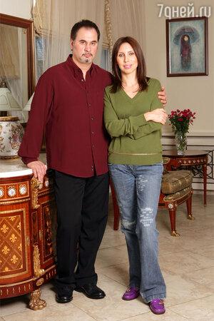 Валерий Меладзе с женой Ириной. 2005 год