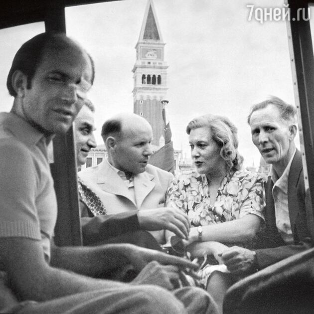 Любовь Орлова на кинофестивале в Венеции. 1947 г.