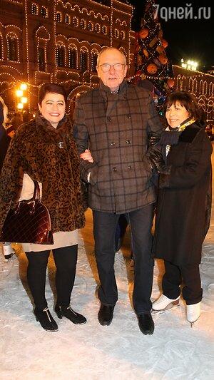 Эммануил Виторган с женой Ириной и Ирина Роднина