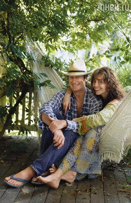 Рэйчел Уорд уверена, что они с Брайном вытащили счастливый билет... 2007г.