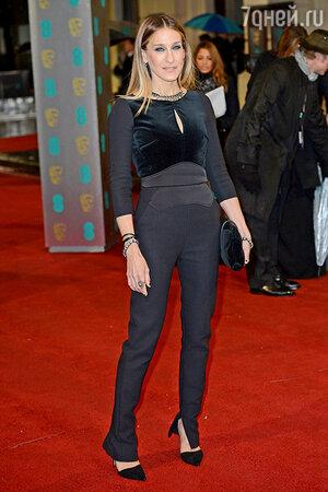 Сара Джессика Паркер. Церемония вручения премии BAFTA. Лондон, февраль 2013 года