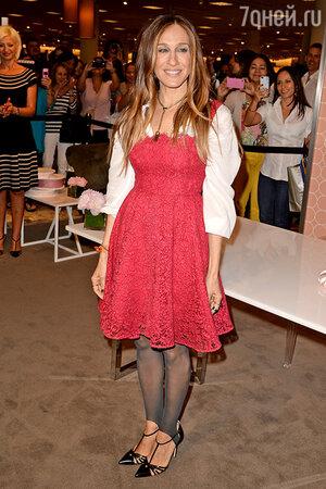 Сара Джессика Паркер на презентации собственной коллекции обуви. Флорида, март 2014 года