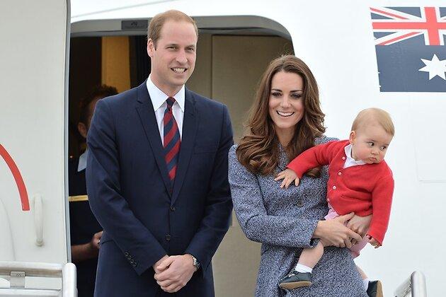 Герцог и герцогиня Кембриджские с сыном