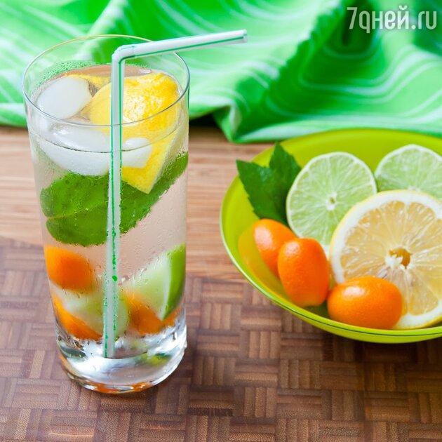 Кумкват и лайм часто добавляют в освежающие напитки