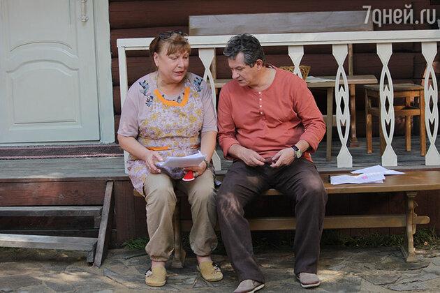 Татьяна Кравченко и Андрей Ильин на съемках фильма «Между нот или Тантрическая симфония»