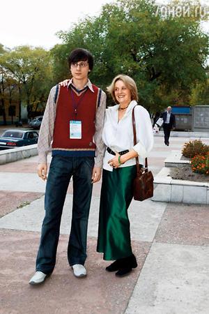 Маргарита Терехова с сыном