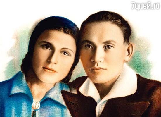 Родители Карим Касымович и Ираида Ибрагимовна. Конец 30-х годов