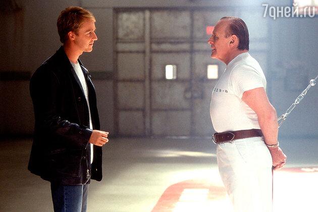 Эдвард Нортон и Энтони Хопкинс в фильме «Красный дракон» 2002 г.