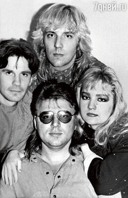 Группа «Летний сад». Николай Тагрин - крайний слева. 1991 год