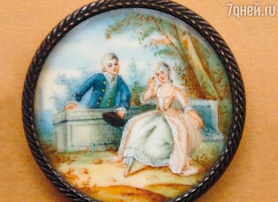 Английская пуговица для мужского пальто. 1840 г.