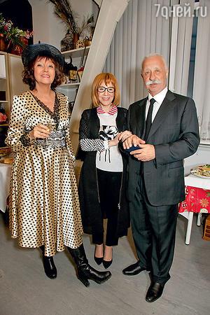 Екатерина Уфимцева, Кира Прошутинская и Леонид Якубович