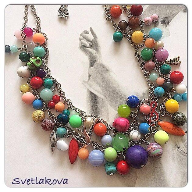 Колье «радуга». Дизайн Юлии Светлаковой