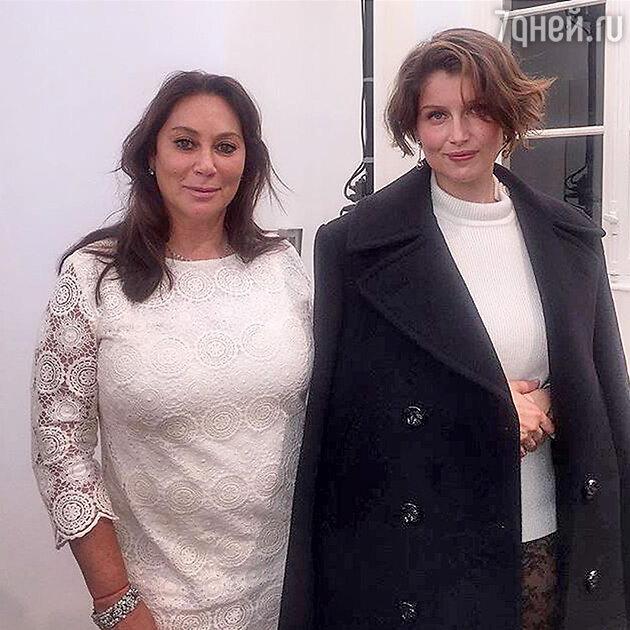 Алла Вербер с самой популярной моделью конца 90-х Летицией Кастой после показа Nina Ricci