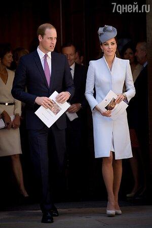 Принц Уильям и Кейт Миддлтон на пасхальной службе в Сиднее