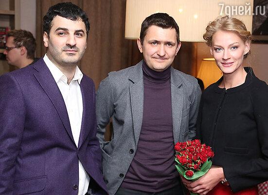 Режиссер Сарик Андреасян, продюсер Георгий Малков, Светлана Ходченкова