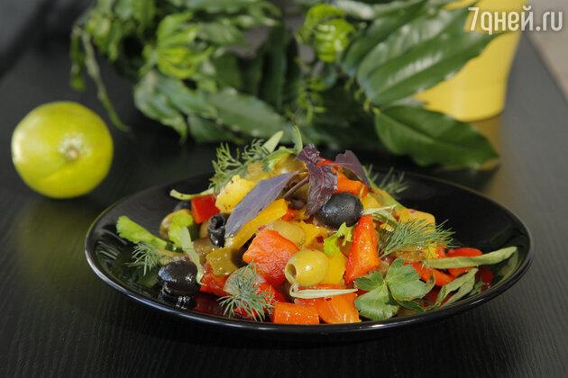 Постный рецепт: салат из запеченных перцев