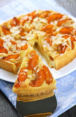 Абрикосово-медовый пирог с крошкой