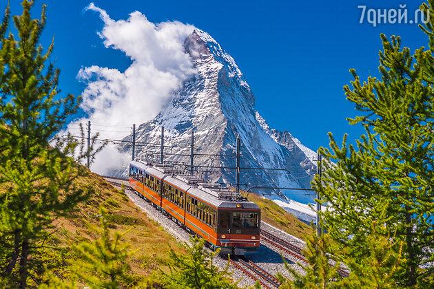 Церматт, горный поезд