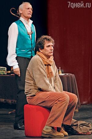 Евгений Князев с  Василием Лановым в спектакле «Посвящение Еве». 2009 г.