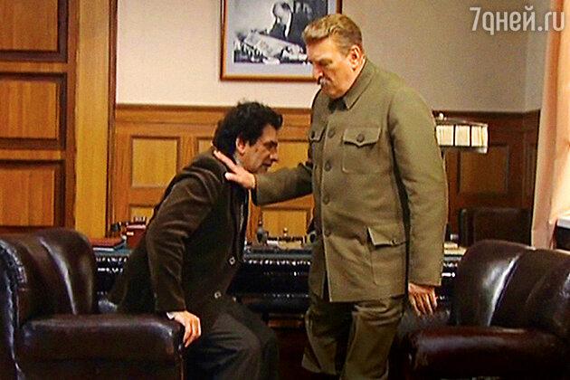 Евгений Князев с Алексеем Петренко в роли Сталина в сериале «Вольф Мессинг: Видевший сквозь время»