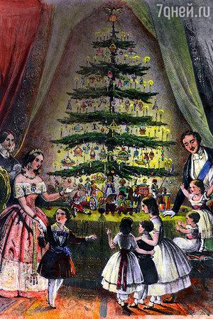 Семья  королевы Виктории на обложке лондонского иллюстрированного журнала