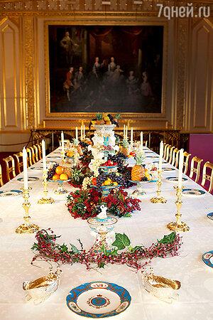 Праздничный ужин  в Виндзоре