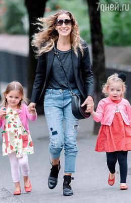 Сара Джессика Паркер с дочерьми Табитой и Марион