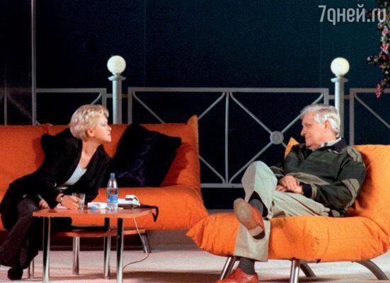 С Олегом Басилашвили вспектакле «Калифорнийская сюита». 1999 г.