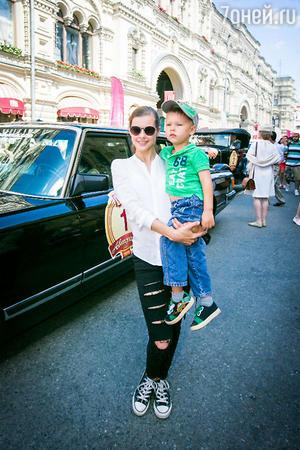 Екатирина Шпица с сыном