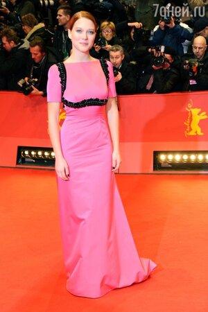 Леа Сейду в платье от Prada