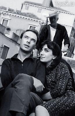 Алексей Баталов с женой Гитаной в Венеции