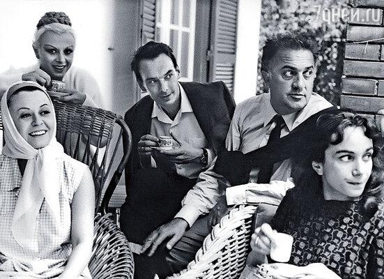 Мы с Гитаной в гостях у Федерико Феллини и Джульетты Мазины, 1963 год