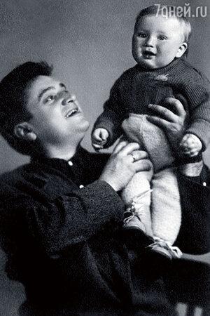 Евгений Весник с сыном Женей