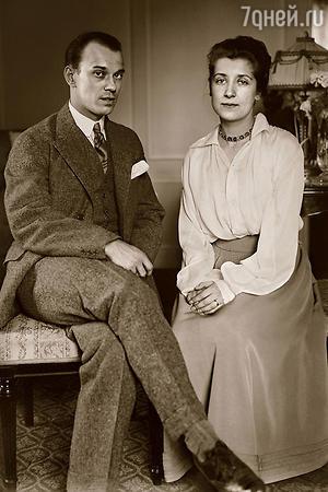 Вацлав Нижинский с женой Ромолой