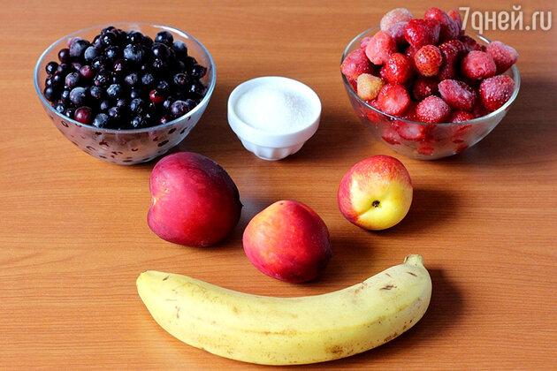 Ингредиенты для  фруктового мороженого
