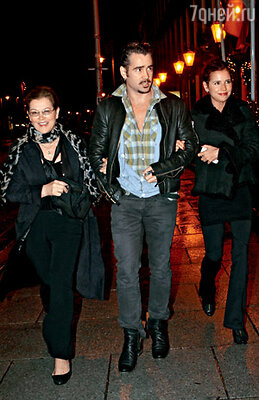 Колин с матерью Ритой и сестрой Клодин