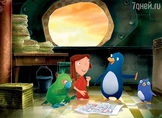 Кадр фильма «Пингвиненок Джаспер: Путешествие на край Земли»