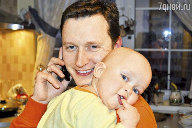 Муж Марии Ситтель  Александр Терещенко с сыном Саввой
