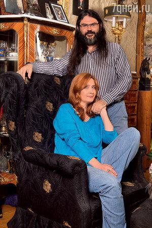 Елена Макарова с мужем