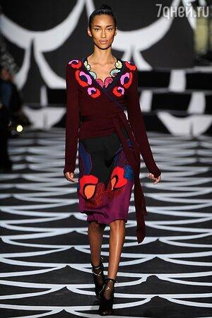 Diane von Furstenberg, показ коллекции осень-зима 2014/15 в рамках Недели моды в Нью-Йорке