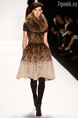 Badgley Mischka, показ коллекции осень-зима 2014/15 в рамках Недели моды в Нью-Йорке