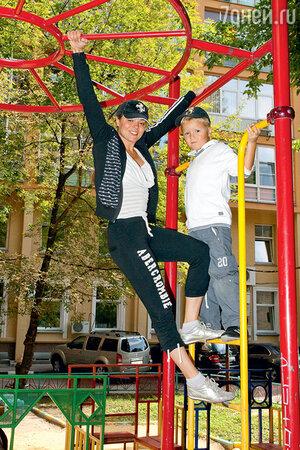 Наталья Громушкина с сыном