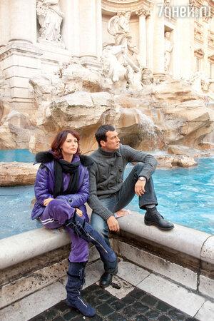 Андрей Чернышов с Ольгой Погодиной в Риме