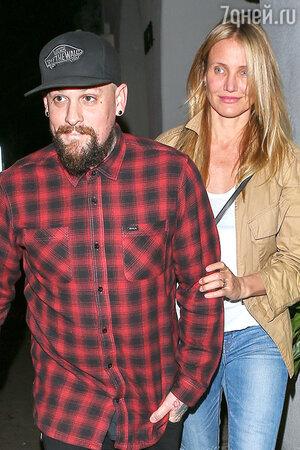 Камерон Диас с мужем Бенджи Мэдденом. Лос-Анджелес, 2016 г.