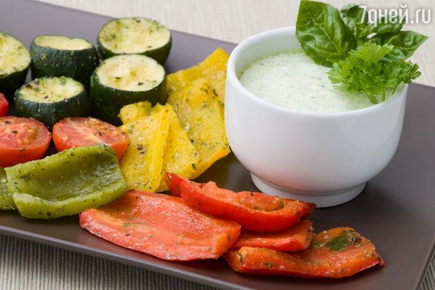 С домашним соусом запеченные овощи станут еще вкуснее