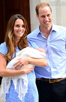 Принц Уильям и Кейт Мидллтон с сыном Джорджем