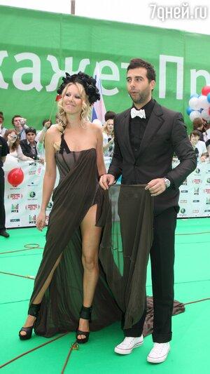 Ксения Собчак и Иван Ургант на церемонии вручения премий МУЗ-ТВ. 2010г.